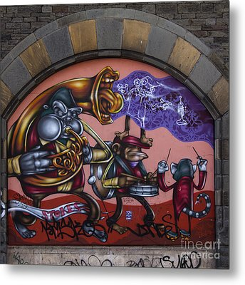 Graffiti House Metal Print by Brian Roscorla