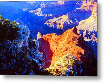 Grand Canyon From Hermit's Rest Road Metal Print
