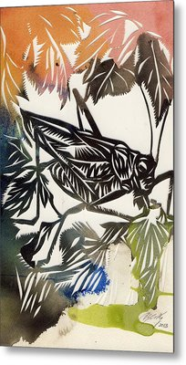 Grasshopper Metal Print by Alfred Ng