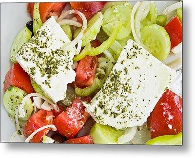 Greek Salad Metal Print