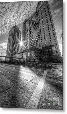Guardian And One Woodward Avenue Buildings Metal Print