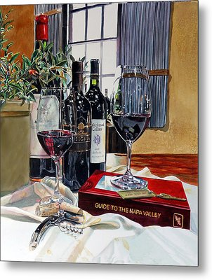 Metal Print featuring the painting Guide To The Napa Valley by Gail Chandler