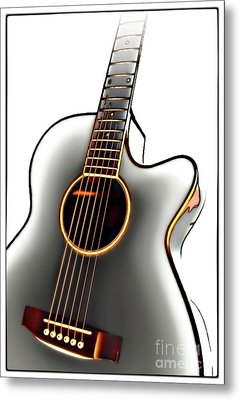 Guitar Metal Print by Walt Foegelle