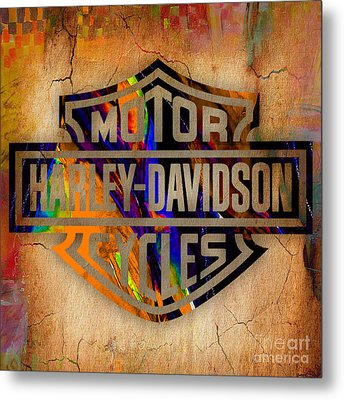 Harley Davidson Cycles Metal Print by Marvin Blaine
