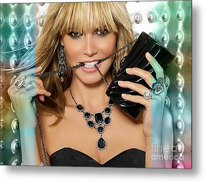 Heidi Klum Metal Print by Marvin Blaine