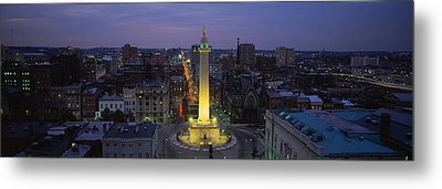 High Angle View Of A Monument Metal Print by Panoramic Images