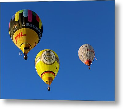 3 Hot Air Balloon Metal Print by John Swartz