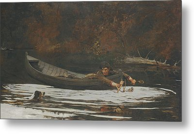 Hound And Hunter Metal Print by Winslow Homer