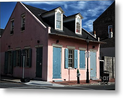House On The Corner Metal Print by John Rizzuto