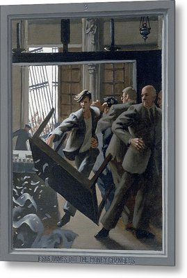 3. Jesus Drives Out The Money Changers / From The Passion Of Christ - A Gay Vision Metal Print by Douglas Blanchard