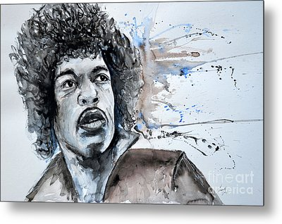 Jimi Hendrix  Metal Print by Ismeta Gruenwald
