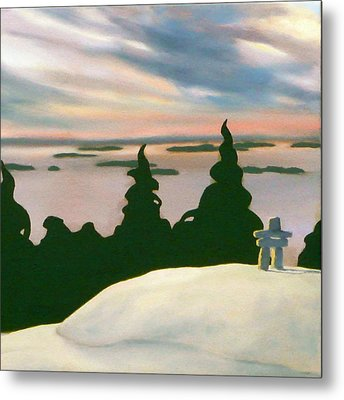 Metal Print featuring the painting Keeping Watch  by Jo Appleby