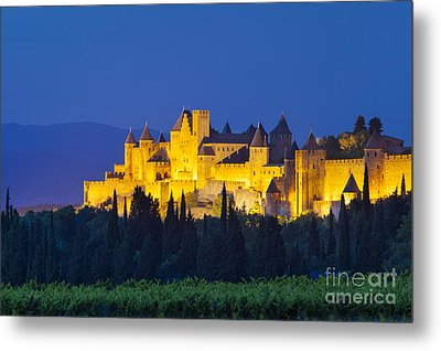La Cite Carcassonne Metal Print by Brian Jannsen