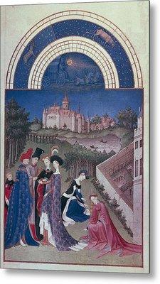 Limbourg, Jean Ca. 1370-1416 Limbourg Metal Print by Everett