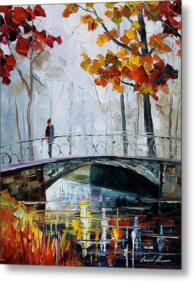 Little Bridge Metal Print by Leonid Afremov