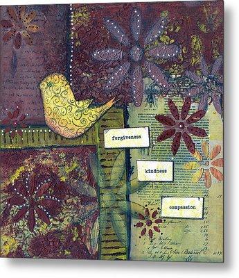 3 Little Words Metal Print by Sue Brassel