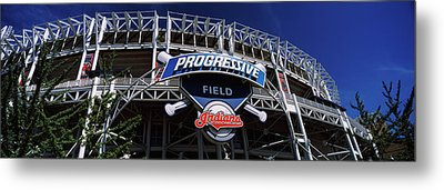 Low Angle View Of A Baseball Stadium Metal Print by Panoramic Images