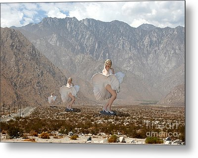 3 Marilyns In The Desert #2 Metal Print by David Wallace Crotty