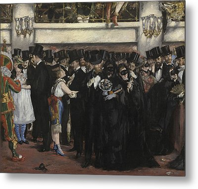 Masked Ball At The Opera Metal Print by Edouard Manet