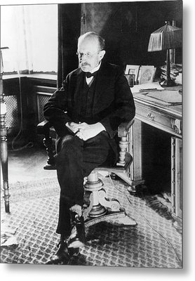 Max Planck Metal Print by Emilio Segre Visual Archives/american Institute Of Physics
