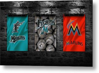 Miami Marlins Metal Print by Joe Hamilton