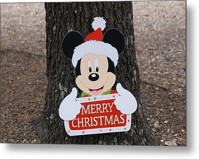 Mickey Mouse Metal Print by Dick Willis