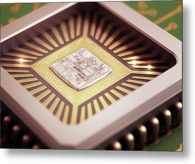 Microchip Metal Print
