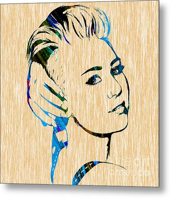 Miley Cyrus Collection Metal Print by Marvin Blaine