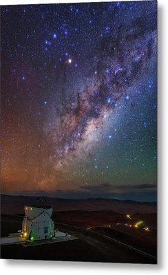 Milky Way Over Paranal Observatory Metal Print by Babak Tafreshi