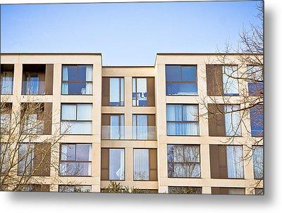 Modern Apartments Metal Print by Tom Gowanlock