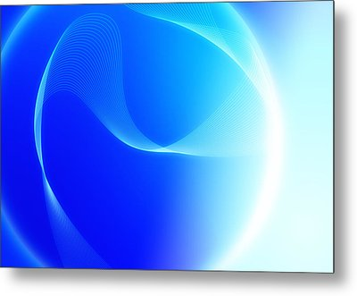 Modern Blue Abstract  Metal Print