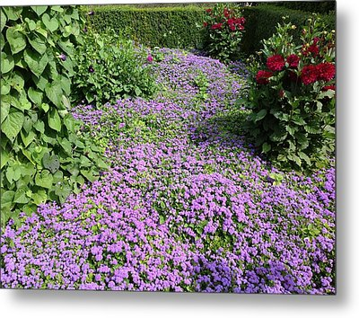 Monet's Garden In France Metal Print
