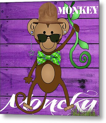 Monkey Business Collection Metal Print