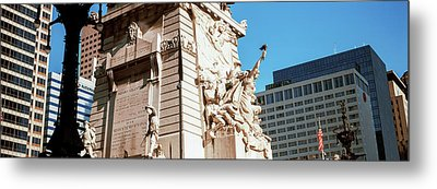 Monument In A City, Soldiers Metal Print