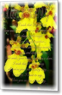Mothers Day Card Metal Print by Debra     Vatalaro