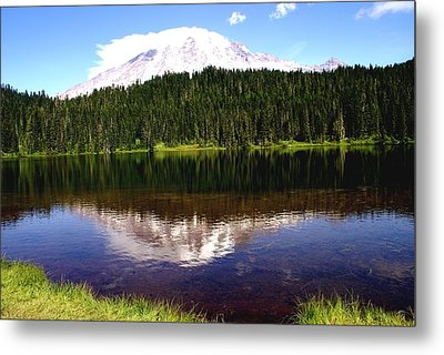 Mt Rainier Metal Print by Jerry Cahill