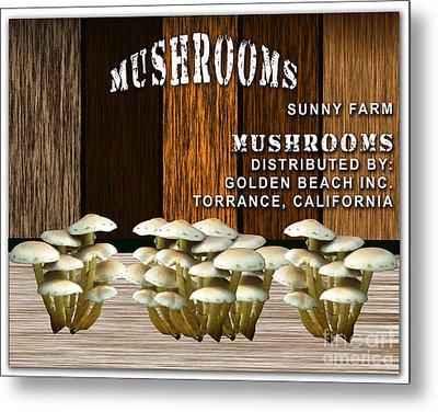 Mushroom Farm Metal Print by Marvin Blaine