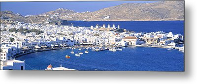 Mykonos, Cyclades, Greece Metal Print by Panoramic Images