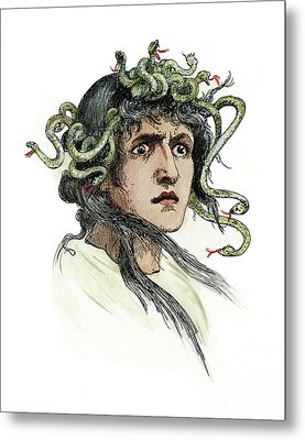 Mythology Medusa Metal Print by Granger