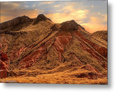 Navajo Nation Series Along 87 And 15 Metal Print by Bob and Nadine Johnston