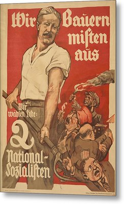 Nazi Party Poster For The German Metal Print by Everett
