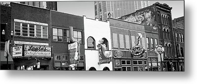 Neon Signs On Buildings, Nashville Metal Print by Panoramic Images