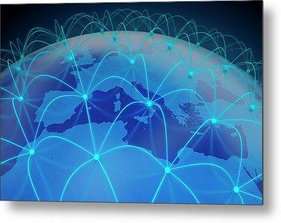 Networking Metal Print by Andrzej Wojcicki