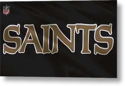 New Orleans Saints Uniform Metal Print by Joe Hamilton