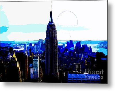 New York City Metal Print by Celestial Images