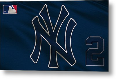 New York Yankees Derek Jeter Metal Print by Joe Hamilton