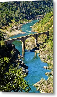 No Hands Bridge Metal Print by Sherri Meyer