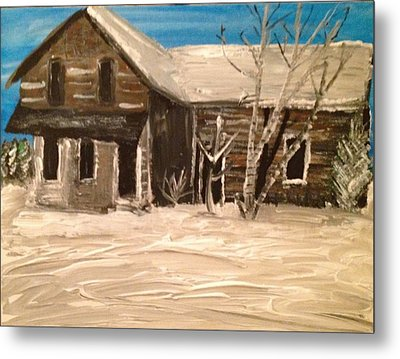 Metal Print featuring the painting Old House by Paula Brown