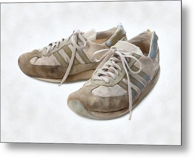 Old Running Shoes Metal Print by Danny Smythe