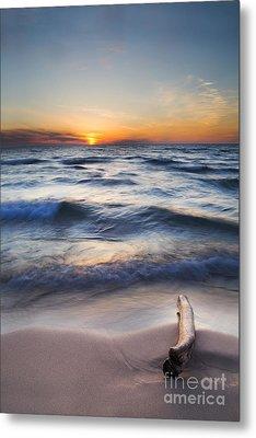 Onekama Sunset Metal Print by Twenty Two North Photography